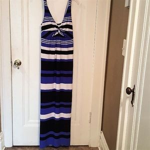 AGB Striped Sleeveless Dress SMALL